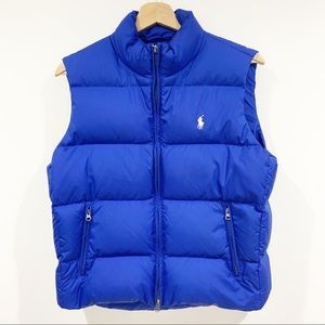 Ralph Lauren royal blue down puffer vest Sz Medium